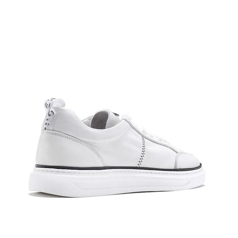 Moda Genuíno Da Lazer Couro Branca Sapatos Mens Primavera Tênis Masculina Homens Respirável Placa Outono De preto Casuais Bege f8Sq7