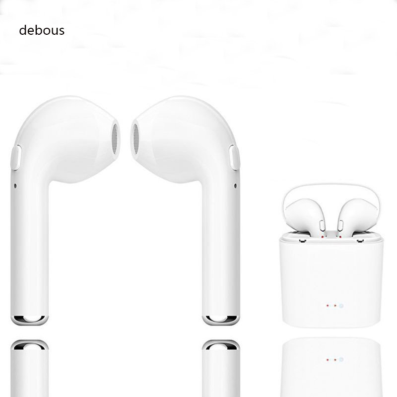 debous Wireless <font><b>Earphone</b></font> For iPhone X 8 8Plus <font><b>Bluetooth</b></font> 4.1 Earbuds Audio Stereo For Samsung <font><b>S9</b></font> Xiaomi Headset With Charging Box image