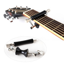 Portable Glider Guitar Capo Slide Quick Setup Rolling for 6-string Folk Electric Classic Acoustic Guitar Bass Ukulele metal guitar capo with bridge pin remover fit for acoustic electric guitar bass ukulele mandolin soprano concert tenor baritone