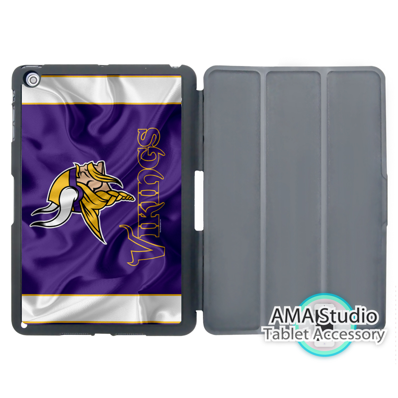 Minnesota Vikings Football FlagSmart Folio Cover Case For Apple iPad Mini 1 2 3 4 Air Pro 9.7 10.5 12.9 2016 2017 a1822 New