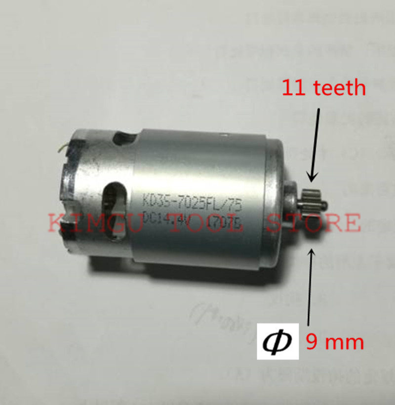 11 Teeth  Motor RS-550 14.4V Replacement For BOSCH GSR14.4-2-LI 2  GSR18-2-LI 18V Electric Drill