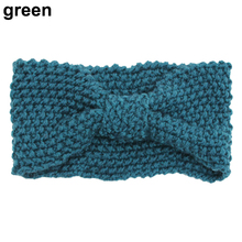 Hot Women Girls  Crochet Knitted  Bow Turban Head Hair Band Winter Ear Warmer Headband 5BUB 7EDA