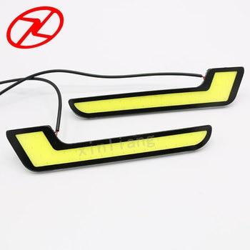 2pcs Universal COB LED Daytime Running Lights automobiles L - Shape DRL Lighting 4