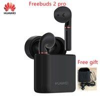 Оригинальные беспроводные наушники HUAWEI FreeBuds 2 Pro TWS Bluetooth 5,0 с микрофоном, музыкальным сенсорным водонепроницаемым гарнитурой с бесплатным п