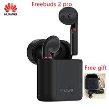 Oryginalny HUAWEI FreeBuds 2 Pro TWS Bluetooth 5.0 bezprzewodowe słuchawki z mikrofonem muzyka dotykowy wodoodporny zestaw słuchawkowy z bezpłatnym prezentem