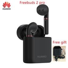オリジナルhuawei社freebuds 2 プロtws bluetooth 5.0 ワイヤレスイヤホンとマイク音楽タッチ防水ヘッドセットと無料ギフト