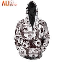 Funny Ahegao Zipper Hoodies Jacket Alisister Men S Hoody Sweatshirt Plus Size 2017 Autumn Winter Pullover
