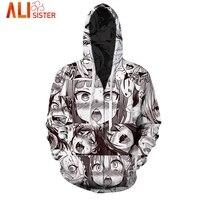 Funny Ahegao Zipper Hoodies Jacket Alisister Men S Hoody Sweatshirt Plus Size 2017 Autumn Winter Pullover