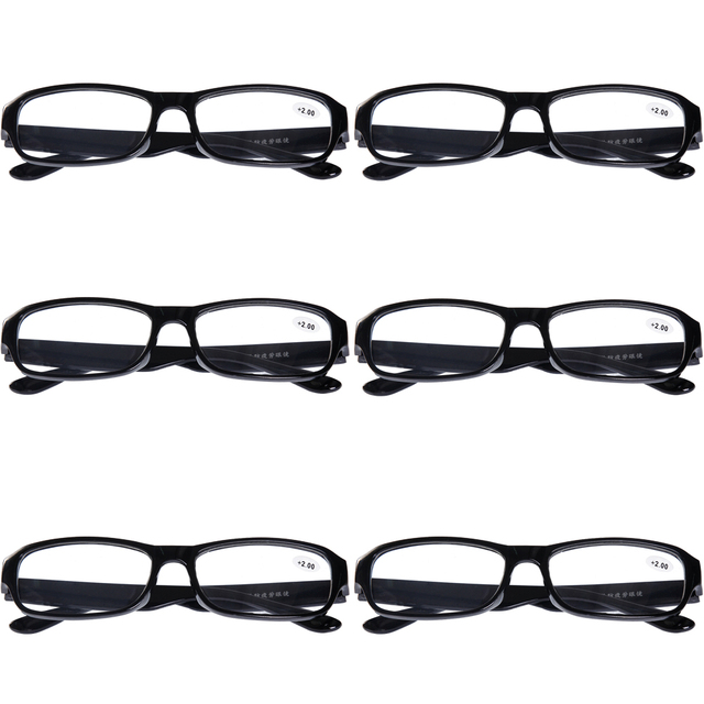 064a18dc1c 6x Reading Glasses +0.50 to +4.50 Classic Everyday Use Readers Eyeglasses  Eyewear Office Mens Womens Black Tortoise Spectacles