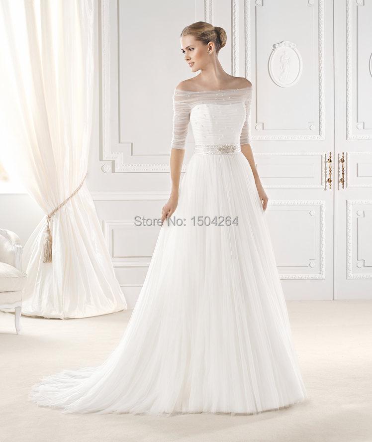 Simple Off the Shoulder Wedding Dress