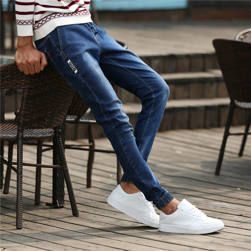 New style Retro Nostalgia Blue Denim Stretch Jeans autumn Leisure jeans Famous Brand Casual pants pantalones