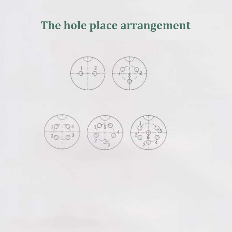 Conector Circular de aviación GX12, 2 pines, 3 pines, 4 pines, 5 pines, 6 pines, enchufe macho y hembra, 12mm