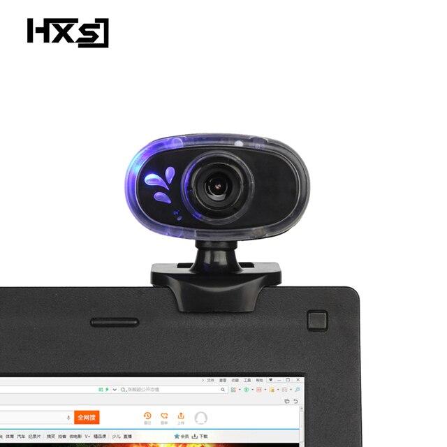 HXSJ mode HD Webcam 12 M Pixels 360 degrés Rotation ordinateur Web caméra A881 Microphone intégré pour PC ordinateur portable caméscope