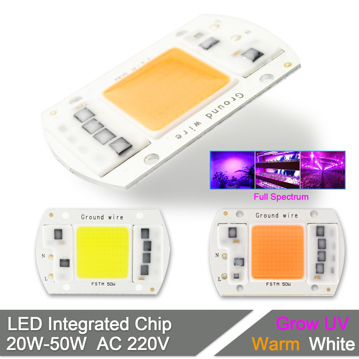 цены Integrated Growth LED Grow Light Chip Full Spectrum 220V 20W 30W 50W Flower Plant Greenhouse Vegetable Spot Floodlight Lamp Bulb