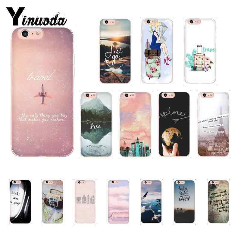 Yinuoda الوردي السفر تفعل القلب السفر الطائرات الفاخرة غطاء الهاتف ل iPhone8 7 6 6SPlus 5 5s SE XR X XSMAX 10 11 11pro 11promax