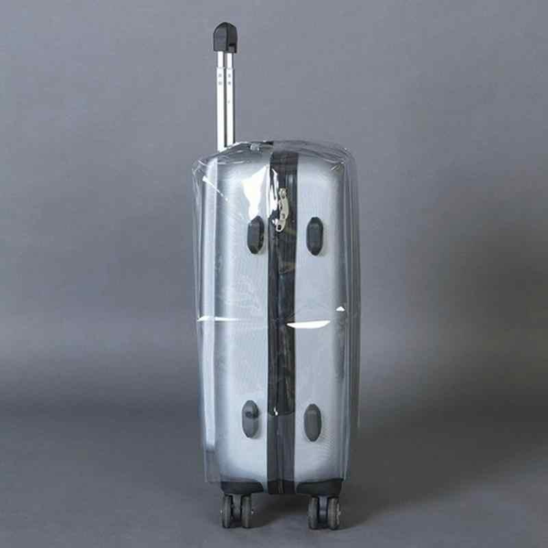 Seyahat Su Geçirmez bavul kılıfı Şeffaf Bagaj Kapağı PVC Kalınlaşma Boyutu 20/22/24/26/28 Toz Geçirmez Koruyucu kapak