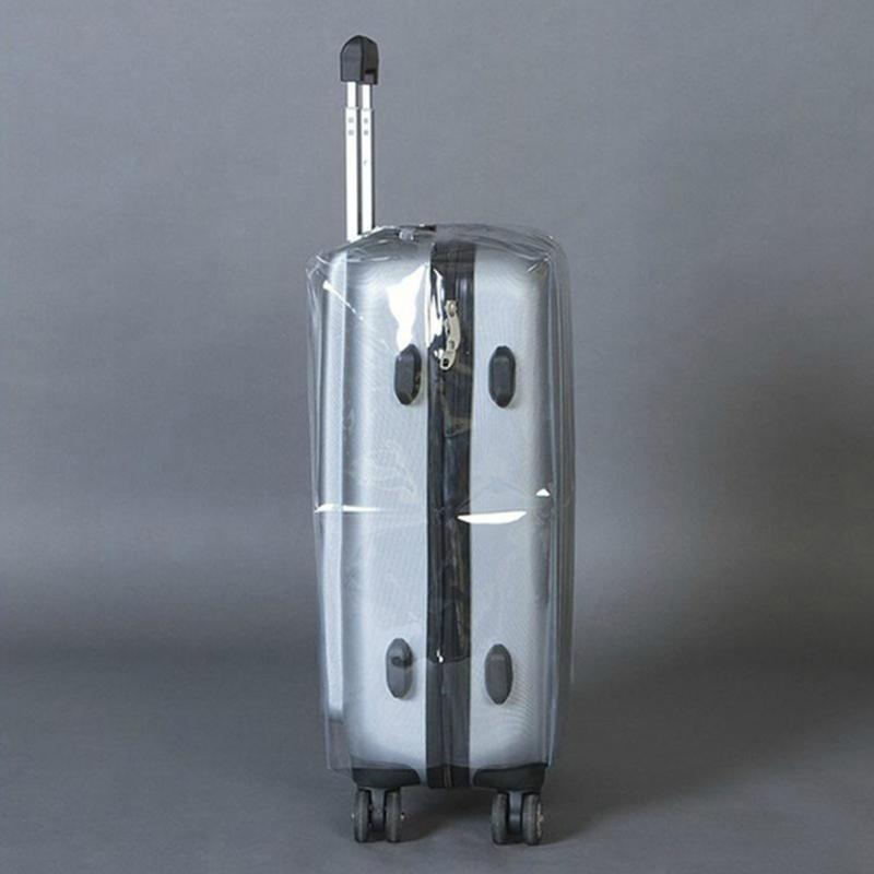 Travel Waterproof Suitcase Cover Transparent Luggage Cover PVC Thickening Size 20/22/24/26/28 Dustproof Protective Cover