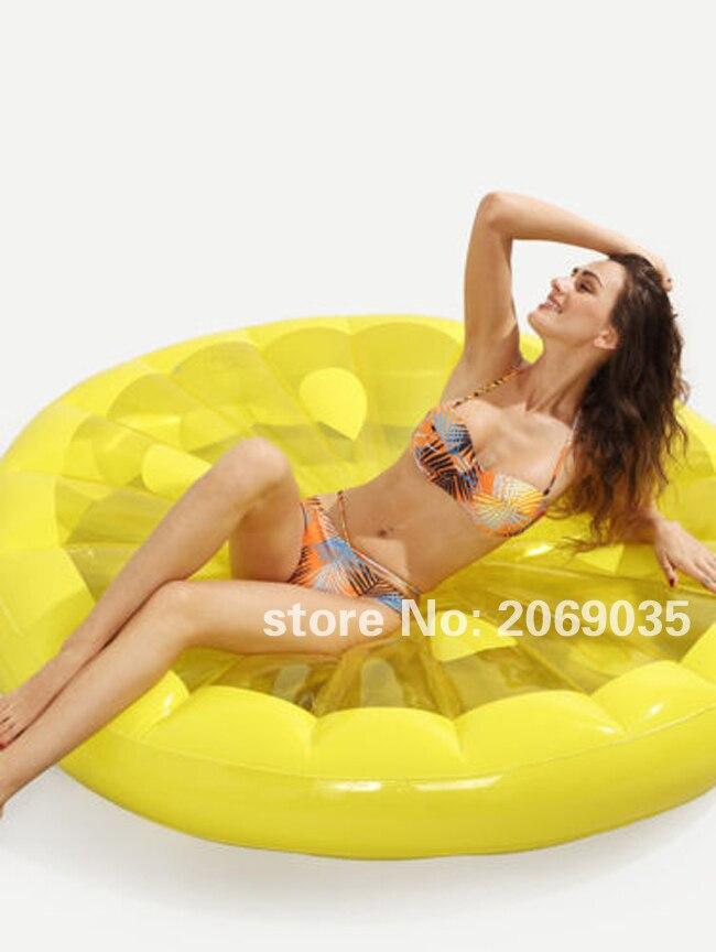 Gigante 60 Pulgadas Rodaja de Limón Piscina Flotador Lounge - Deportes acuáticos - foto 4