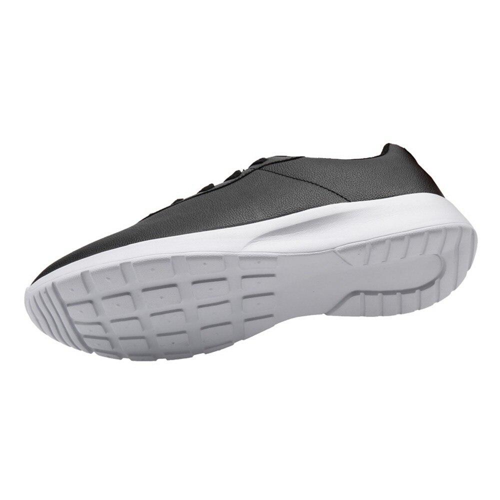 Zapatos Cuir Noir Plein up De Semelles Feminino Marche Air Confortable Hommes Casual Tenis Dentelle Pour Léger Pu En Chaussures Sport blanc 0wHqUwxd