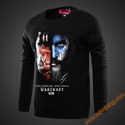 Wishining 2017 cool wow anduin wrynn and durotan face sweatshirt black wow game movie for men.jpg 250x250