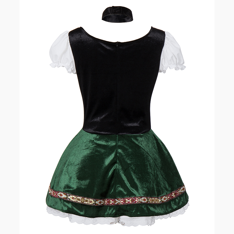 Image 5 - White Green Oktoberfest German Maid Fancy Dress Cosplay Beer Girl Costume Sexy Halloween Costumes For Women Deguisement Adultes-in Sexy Costumes from Novelty & Special Use