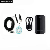 JINGLESZCN Wifi Endoscope 7MM Camera 2M 5M 7M 10M 15M 20M 25M Borescope Waterproof Inspection Cam