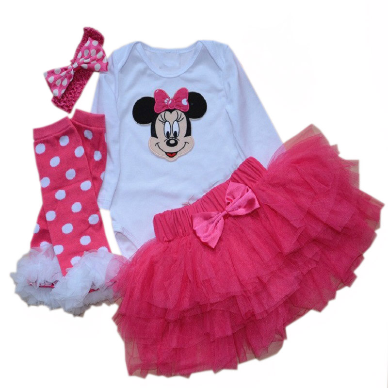 High Quality Infant Christmas Clothes Baby Girl Xmas Jumpsuit Romper Outfits Clothes Santa Claus Costume For Baby minnie dresses