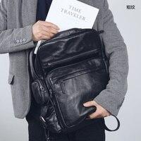 LANSPACE мужской рюкзак из коровьей кожи модный рюкзак из натуральной кожи брендовый рюкзак мужской