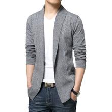 Mens Slim Cardigan Sweater Slim 2016 Fashion Sueter Hombre Cardigan Sweaters Men Coats Casual Slim Long Sleeve Sweater Pull Homm