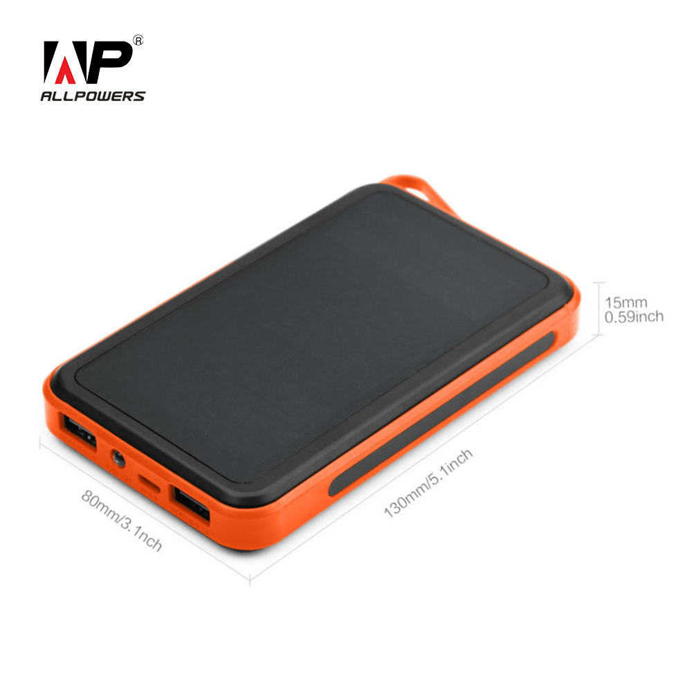ALLPOWERS 15000mAh External Battery for iPhone Sumsung HTC Sony Huawei Nokia Motorola Solar Power Bank 15000