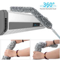 Creative Stretch Extend Microfiber Dust Shan Adjustable Feather Duster Household Dusting Brush Cars Cleaning Kitchen Accessories