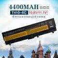 4400 mah new bateria do portátil para lenovo thinkpad e50 l410 l412 l420 L421 L510 L512 L520 SL410 SL510 T410 T420i T510 T520 W510 W520