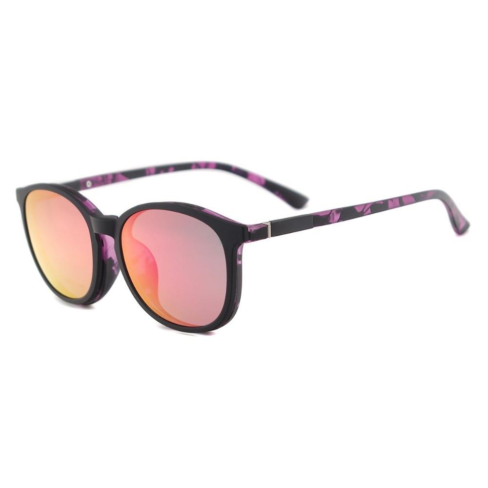 Flexible Kunststoff Vintage Runde Sonnenbrille Frauen Magnetische - Bekleidungszubehör - Foto 5