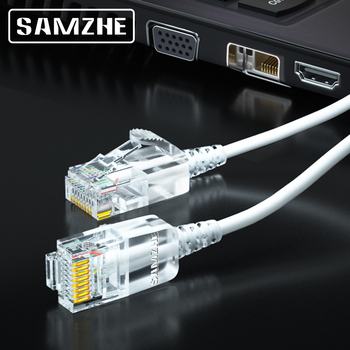 SAMZHE Cat6A Ultrafine Ethernet Patch Cable - Slim RJ45 Computer XBox Networking LAN Cords 0.5m 1m 1.5m 2m 3m 5m 8m 10m