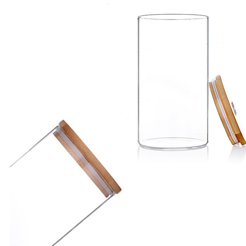 Glass Storage Bottle with Bamboo Lid Kitchen Accessories 2