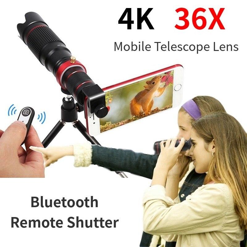 HD téléphone portable 4K 36X télescope caméra optique Zoom lentille téléphone portable téléobjectif es pour iPhone Smartphone pour Huawei Samsung