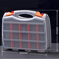 Free shipping Plastic transparent cover hardware storage box combined part box of double side hand box