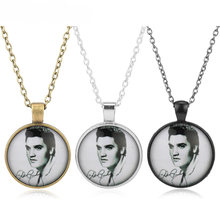 fashion love Elvis Presley Pocket Watch Necklace Women Locket girl lady antibrittle the king of rock n roll silver Men Gift(China)