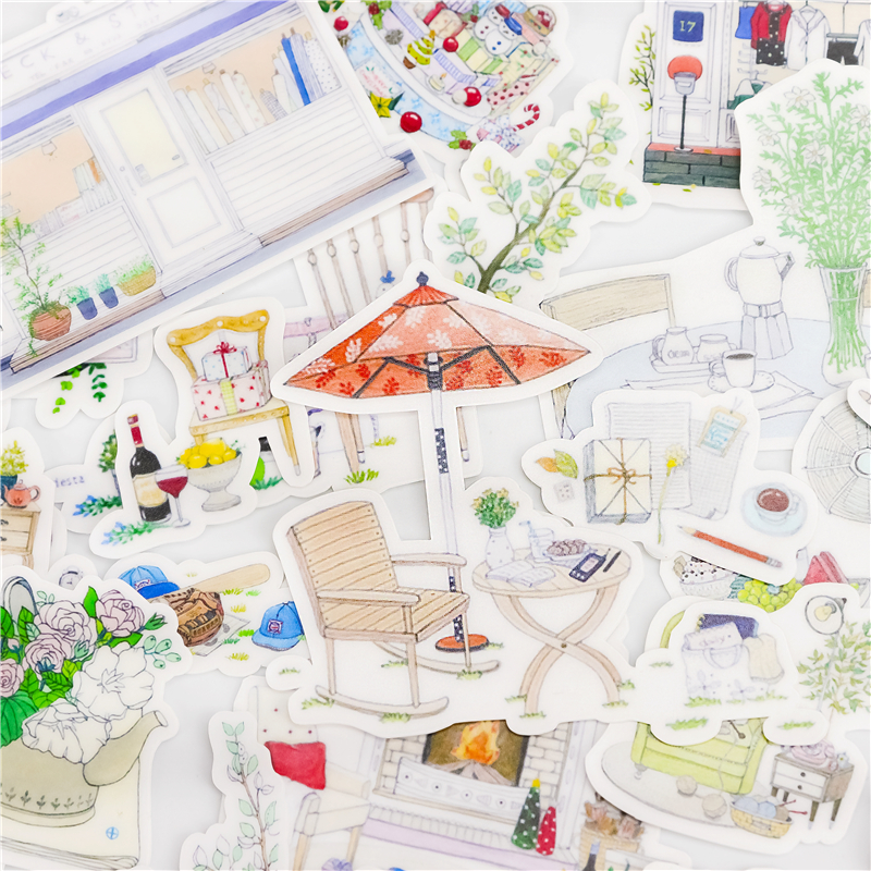 23pcs Cute Kawaii Good Everyday Life Sticker Package Decorative Stationery Stickers Scrapbooking DIY Diary Album Scrapbook