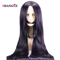 SHANGKE Long Straight Wigs Purple Party Hair Accessories Heat Resistant Synthetic Hair Cosplay Wig For Women
