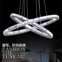 Modern LED crystal chandelier duplex staircase Villa crystal chandeliers hanging wire lights stairs led lamps