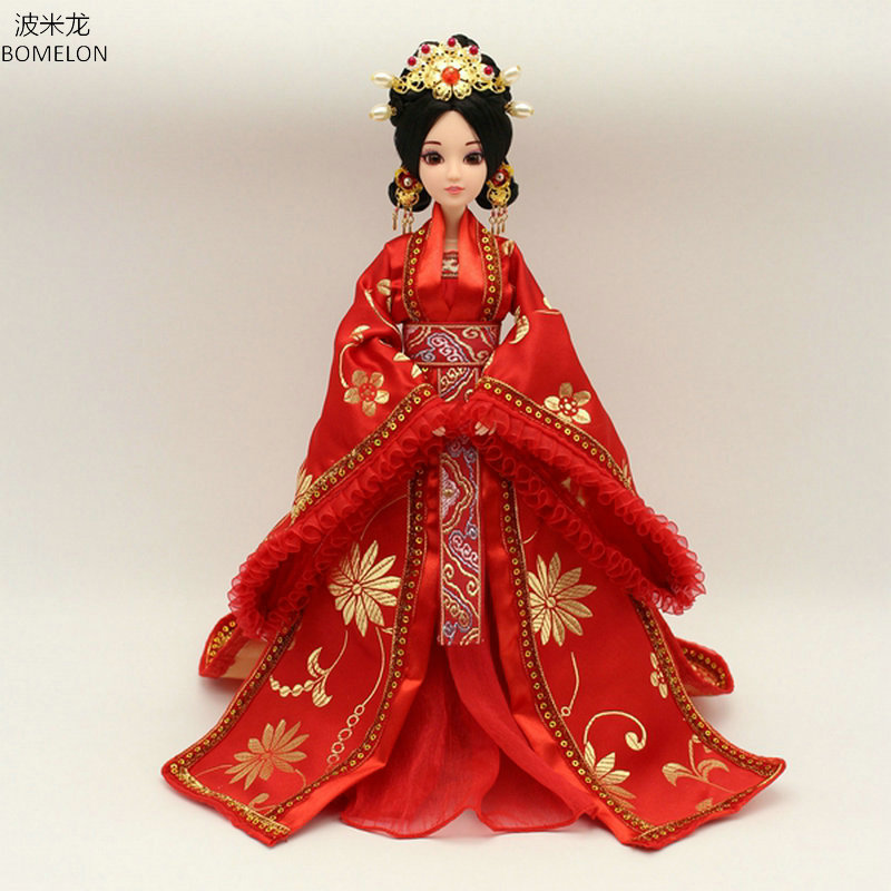 Handmade Chinese Ancient Costume Doll <font><b>Clothes</b></font> for Dolls 29CM Kurhn Doll or <font><b>Bjd</b></font> <font><b>1/6</b></font> Doll Girl Toys Dolls Accessories image