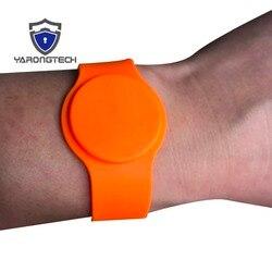 ISO 14443A оранжевый цвет силиконовый материал nfc Браслет, rfid браслет, rfid Браслет-5 шт