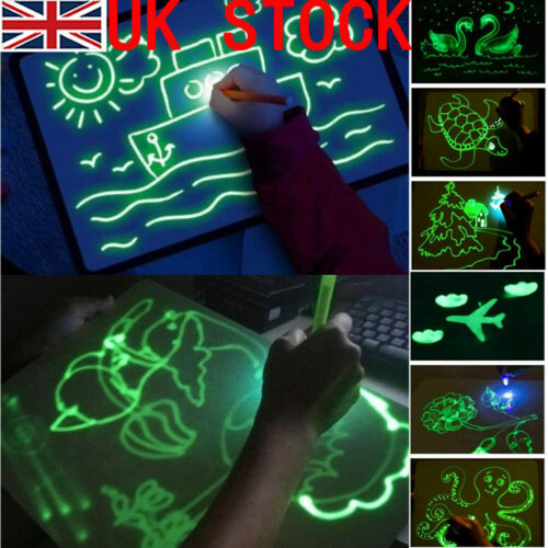Educational Draw With Light Fun And Developing Toy Magic Draw Kids Gifts NEW
