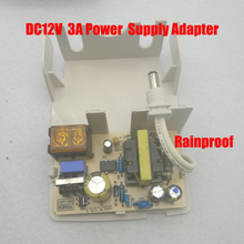 Free Shipping 12V 3A  Outdoor rainproof CCTV Power Supply  & CCTV Camera  Power Adapter for Security camera