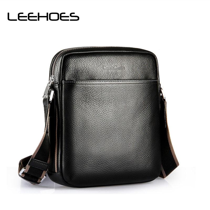 Brand Men's Crossbody Bags Zipper Phone Holder Flap Genuine Leather Men Bag Leather Shoulder Bag for Men Messenger Bags Bolsa swisswin fashion brand men shoulder bag small black messenger daily phone bag quality waterproof nylon flap zipper crossbody bag