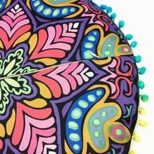 Bohemian Cushion Cover with Mandala Pattern