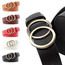 Jeans Women Belt Fashion Design Women Gold Buckle Waist Belt