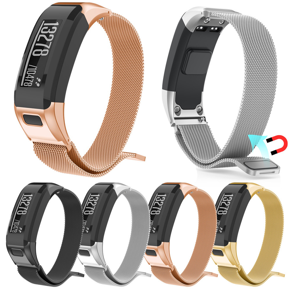 цена For Garmin VIVOsmart HR Milanese Magnetic Loop Stainless Steel Watch Band Strap For Garmin VIVOsmart HR A.18