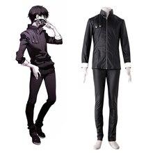 Tokyo Ghoul Cosplay Ken Kaneki Fan Art Ver. Black PU Leather Cosplay Costume Halloween costume for men Carnival Costumes